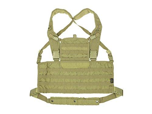 BE-X Modulares Chestrig / Kampfmittelträger / Chest Harness, für MOLLE - Coyote Tan / MJK (Taktische Chest Harness)
