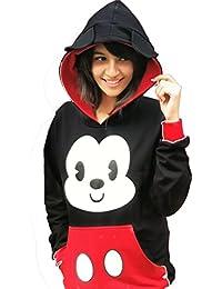 mickey hoodie for girls and women cotton hoodie jacket summer wear winter wear women clothings apparel printed hoodie