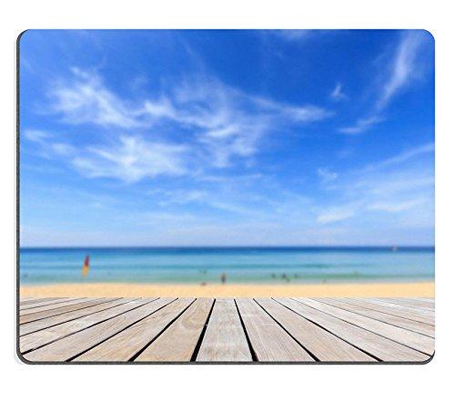Preisvergleich Produktbild luxlady Gaming Mousepad Bild-ID: 34808557grau Holz Terrassendielen und Tropischer Strand