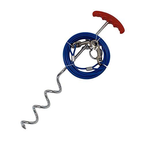RinderOhr Anlegepflock mit 6m Stahlseil