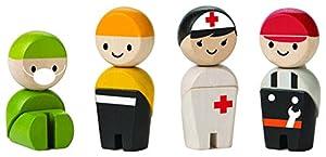 PlanToys Recue Crew - Kits de Figuras de Juguete para niños (3 año(s), Multicolor, Niño/niña, Madera)