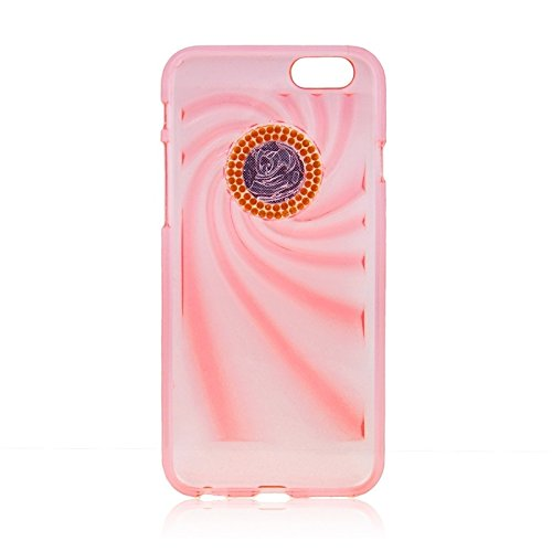 Phone case & Hülle Für IPhone 6 Plus / 6S Plus, modische Ultradünn Diamond verkrustete TPU Schutzhülle ( Color : Blue ) Pink