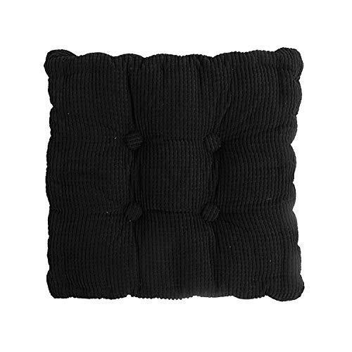 AllRight Coussin de Chaise Coussin Rehausseur de Fauteuil Carré Galettes de Chaise Epais Doux 40 x 40 x 10 cm Noir