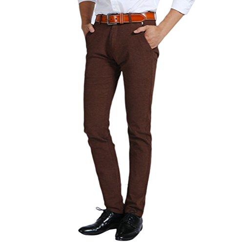 Zhhlaixing Herren Baumwoll Slim Tapered Freizeit Hosen Slant Pocket Straight Pants Five Colors für Chosing (Pocket Slant Pant)