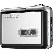 Minidiva, convertitore USB portatile da cassetta a MP3 Bianco-2 White-2