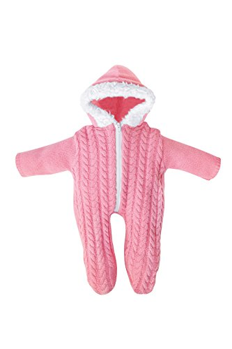 Bayer Design - Pelele de punto con capucha para muñecas, color rosa (83868)