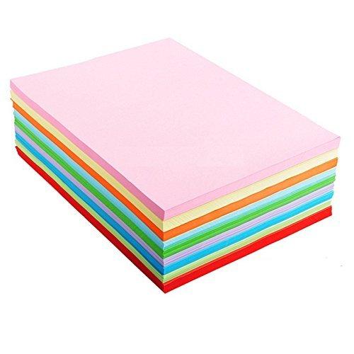 Lintimes, fogli per origami, in formato a4, 10 colori, confezione da 100