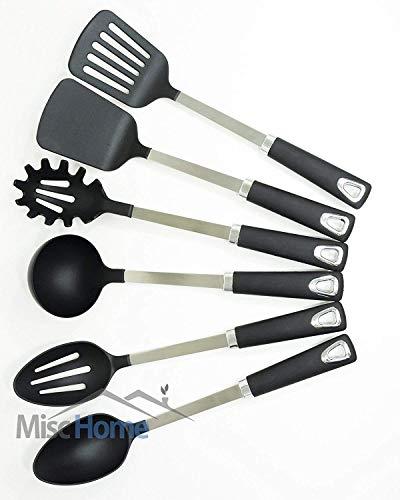 [UTENSILS + HOLDER] 6 Pcs Stainless Steel Kitchen...