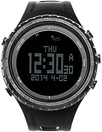 Sunroad Fr801b multifonctions montre de sport–Podomètre Chronomètre altimètre Baromètre Thermomètre Compasstimer écran LCD rétro-éclairage EL montre Outdoor (Noir)