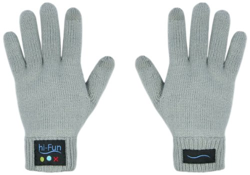 Hi-Fun Hi-Call - Guantes Bluetooth para mujer, color gris