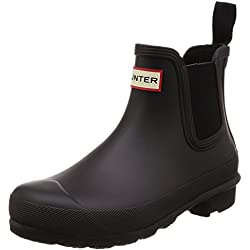 Hunter Womens Original Chelsea Black Rubber Boots 43 EU