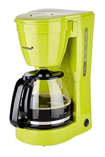 Korona 10118  Kaffeemaschine in Grün - Filter Kaffeeautomat für 12 Tassen Kaffee mit einer Kanne aus Glas -