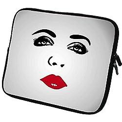art&cherry© 6 Zoll Amazon Fire HD Tablet Schutzhülle / Cover / Tasche Hülle aus besten Neoprenstoff und hochauflösenden Designeraufdruck. Wasserabweseind & stoßresistend Designmuster : 058