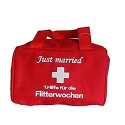 Deko_und_Westernshop_23 1.Hilfe-Tasche Hochzeit Just married Brautpaar Flitterwochen Hochzeitsnacht (Flitterwochen)