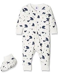 Petit Bateau Baby Boys' ens.Combinuit+chaus Lt/Smo Sleepsuit, Multicoloured (Lait/Smoking), 0-3 Months (Manufacturer Size:3M 3MOIS) Pack Of 2