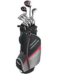 Wilson Pro Staff HDX - Palos de golf, color negro, talla Pro Staff 1,3,4,5-S,P,B,LH, set 15 piezas