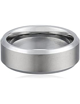 Bling Jewelry gebürstet matt Zentrum Unisex Tungsten Ring 8 mm