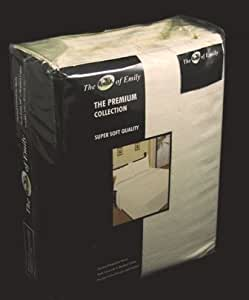 King Size Thermal Flannelette Flat Sheets Set - CREAM