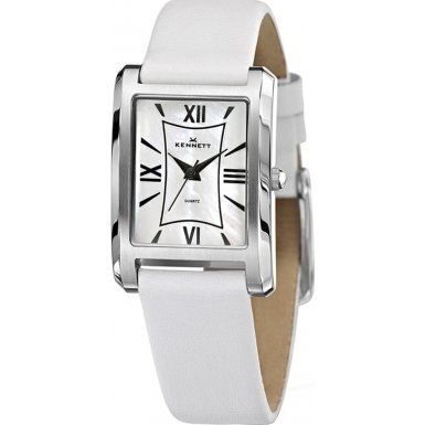Kennett LWELIEWHLWH Ladies Classic Elie White Leather Strap Watch