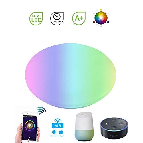 SXFYHXY Wireless WiFi Smart Light Bulb 60W Alexa und Google Home Voice Control Bulbs Dimmable Color