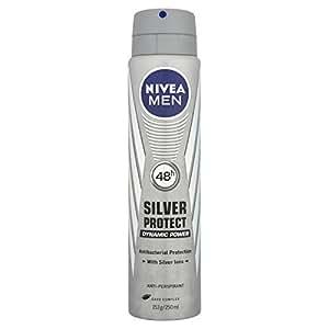 Nivea Men Silver Protect Dynamic Power 48 Hours Anti-Perspirant Deodorant Spray, 250 ml - Pack of 3