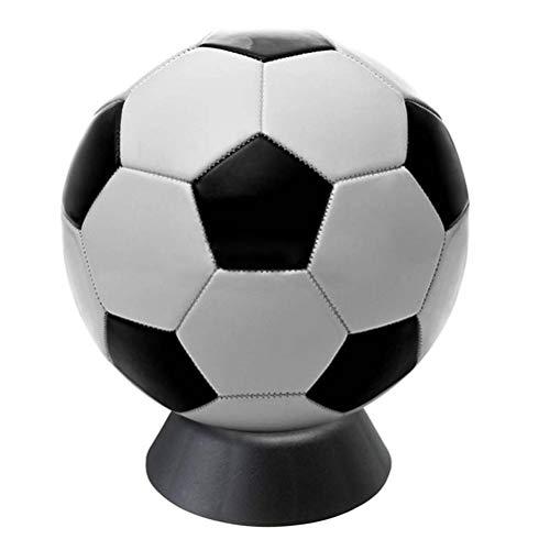 LIOOBO 3 stücke Ball Stehen Basketball Fußball Rugby Fußball Kunststoff Halter für Display Schwarz