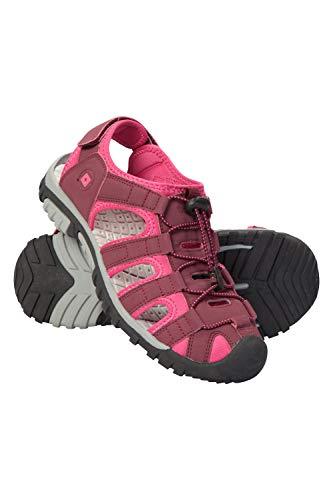 Mountain Warehouse Trek Sandalen für Damen - Shandalen mit Neoprenfutter, Strandschuhe, Flipflops mit Eva-Zwischensohle, verstellbar - Für Spaziergänge, Strand leuchtendes Pink 40 EU