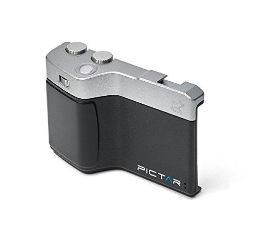 Miggo Grip Photo Pictar One - Obiettivo per trasformare l'iPhone in Una Reflex, Compatibile con iPhone 4S/5/5S/6/6S/6SE/7, Colore: Nero/Argento