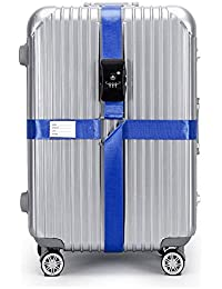 CSTOM® Correa Extensible Apta TSA con Candado de 3 Diales para Maletines Maletas de Viaje 600003