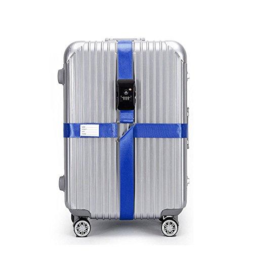 CSTOM (Blu) Cinghia Croce per Bagaglio con TSA