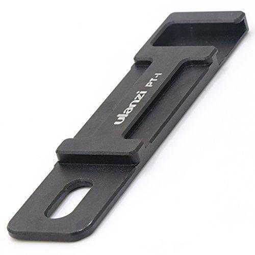 Extra Cold Shoe Mount–TWZ Mikrofon Zubehörschuh-Platte für Kamera Flash für Handy (Schwenkbarer Ipad-halter)