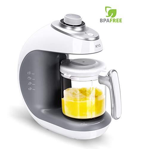 *Babynahrungszubereiter KYG BFP-1800MT 5 in 1 Dampfgarer und Mixer für Babynahrung mit Dampfgaren Mixen Erwärmen Auftauen und Sterilisieren 220-240 V Baby Küchenmaschine (weiß)*