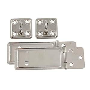 Veiligheid Padlock 2 stuk deur deuren metalen beugels en nieten