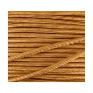 Textilkabel, Stoffkabel, Lampen-Kabel, gold 2x0,75