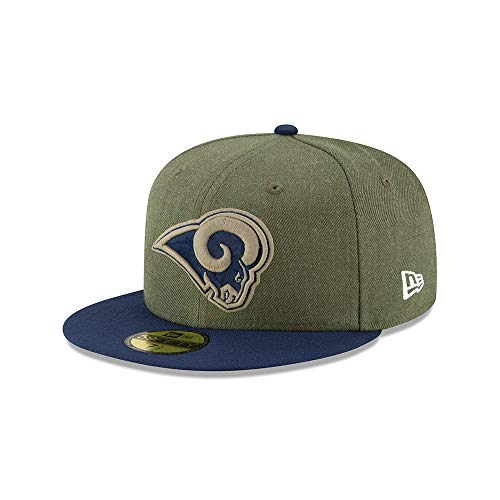 New Era Los Angeles Rams 59fifty Basecap On Field 2018 Salute to Service Green -...