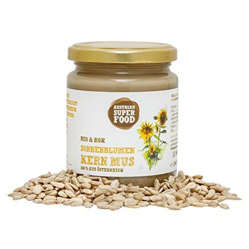 Hanf-butter (BIO Brotaufstrich Butter Mus Sonnenblumenkerne roh, 240 ml Superfood - sehr ergiebig)