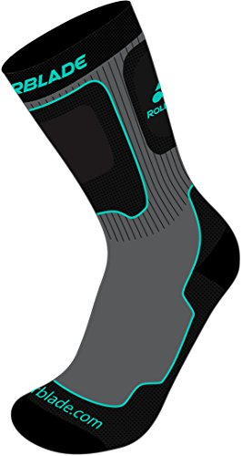 rollerblade-performance-chaussettes-w-2017-grey-watergreen-large-gris