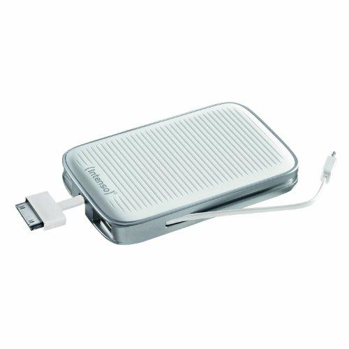 Intenso MobyPack mobiles Ladegerät (5200mAh, Battery Pack, Powerbank, externer Akku Pack für Tablet, Kindle, Ebook, Ipad, Iphone, Samsung Galaxy, Handy, Smartphone, MP3) weiß