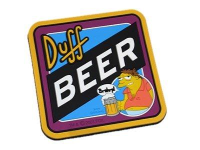 "Barney gumble ""Duff Beer antiscivolo Coaster (i Simpson)"