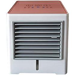 Climatiseurs Portables,Yesmile Nouvelle Recharge Usb Plein Écran Feel Smart Mini Portable Climatisation Ventilateur Air (rouge)