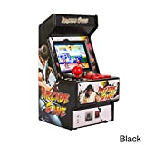 MEETgr Mini Arcade Retro de Street Fighter, 156 Jeux Intégrés, Borne Arcade pour Temps en Famille, 7 x 3,5 x 3,5 Pouces (Noir)