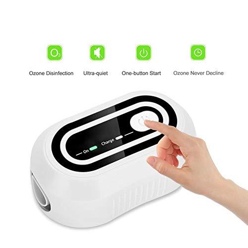 YUEC CPAP Reiniger-Desinfektor, tragbare Luftschläuche, Reinigung Ozondesinfektion, Desinfektionsmittel CPAP Ausrüstung und Maske Clean Fit für CPAP Maschine Maske Schlauch Rohr Zubehör
