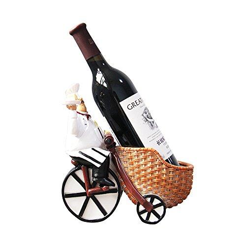 Koch Wein Flaschenhalter Neuheit, BAFFECT & reg; Neuheit Weinregal Stehende Wein Regal Harz...