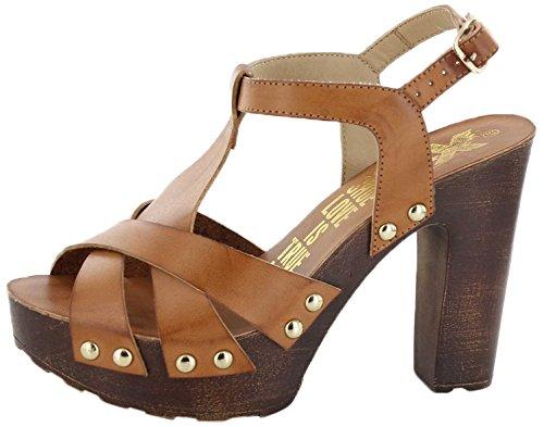 XTI Sandalia Sra. C. Camel - Sandalo per donna, cammello, taglia 39