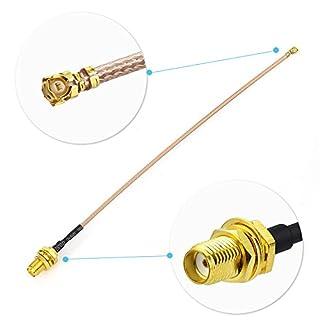 Eightwood WLAN Antenne Adapter SMA Buchse auf IPX/u.FL Buchse Pigtail Kabel RG178 6inch 15cm 2 Stücke für AVB PCB Wireless WiFi LAN WLAN Router Laptop PCI Card