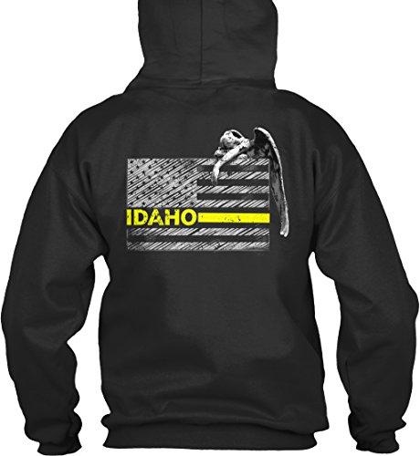 Idaho Police (Bequemer Hoodie Damen / Herren / Unisex L Idaho Police Dispatcher Flag Gifts Schwarz)
