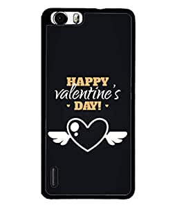Huawei Honor 6 Plus Back Cover Happy Valentine`S Day Card Design From FUSON