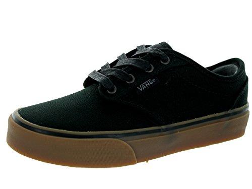 0 oz Canvas) Black/Gum Skate Shoe 12.5 Kids US (Black Kids Vans)