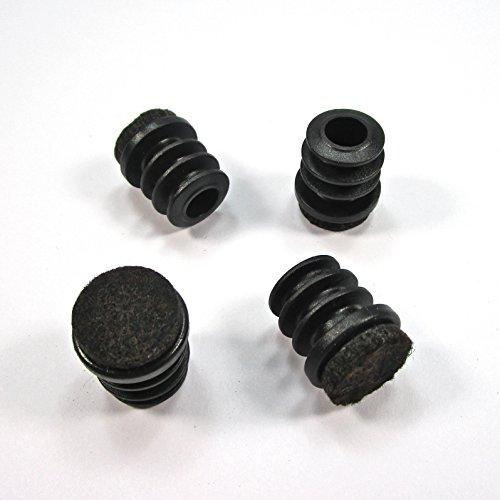 Ajile® - Lot de 16 pièces - Embout entrant rond pour pied de chaise DIAMÈTRE EXTÉRIEUR 16 mm avec semelle feutre anti-bruit et anti-rayure - ERF116-FBA