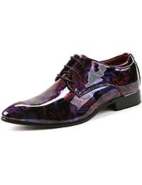 Ruanyi Cuir Oxford Chaussures Hommes, Classique Causal PU Chaussures en Cuir Confortable Lace Up Up Mocassins Low Top Doublés Oxford Business Formel pour Les Hommes (Couleur : Black, Size : 38 EU)